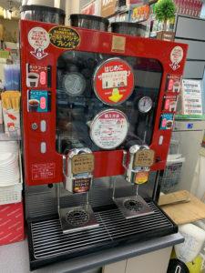 デイリーヤマザキのコーヒーマシン