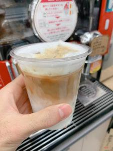 デイリーヤマザキのアイスカフェラテ