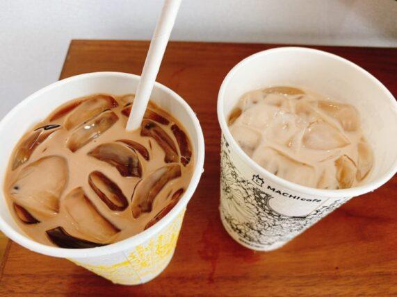 ローソンのアイスチョコチョコモーモーに黒糖わらび餅を入れた物と入れていないもの