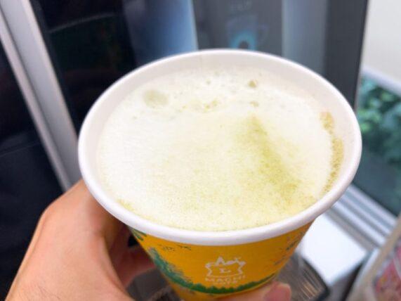 ローソンマチカフェの抹茶ラテ(混ぜる前)