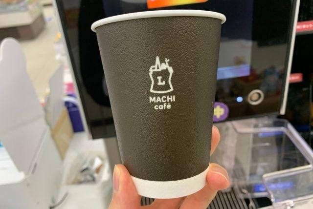 ローソンマチカフェのホットコーヒーのカップ